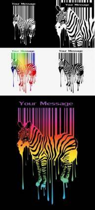 free vector Zebra and barcode vector