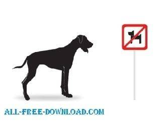 free vector Vector Silhouettes  Dogs
