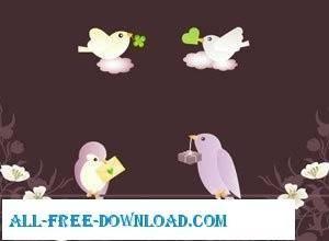 free vector Cute Vector Birds