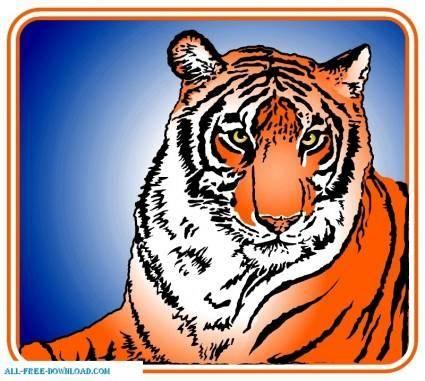 free vector Tiger 00526