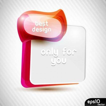 free vector Colorful speech bubble 02 vector