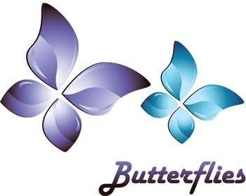 free vector 3d butterfly vector, 3d adobe illustrator vector, 3d animal vector, 3d ai vector