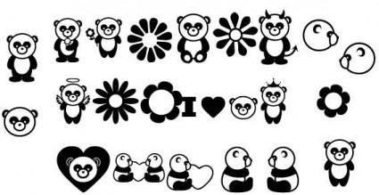 free vector Panda vector