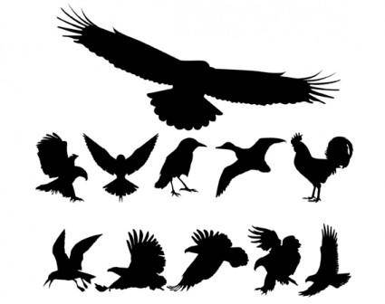 free vector Free Vector Birds Silhouettes