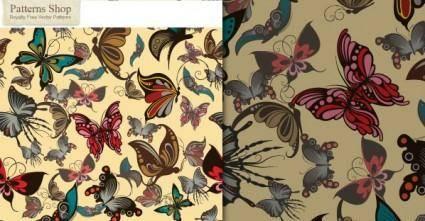 free vector Free Vector Butterflies Seamless Pattern