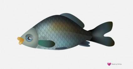 free vector Vector Fish - Carp