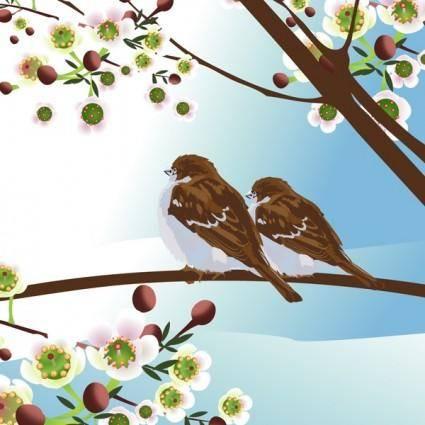 free vector Vector birdie