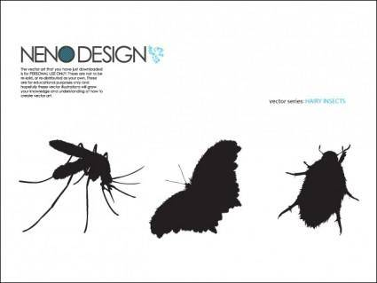 free vector Hairy Insects