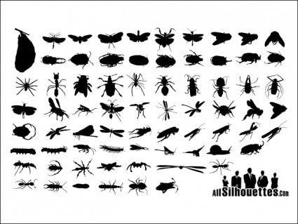 free vector Insect Silhouettes.