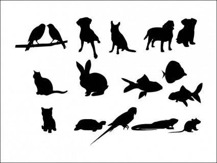 free vector 16 Pet Vector Silhouettes