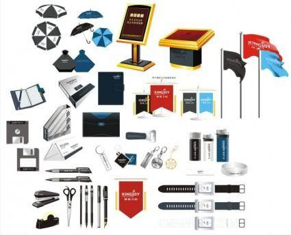 free vector Office supplies vector