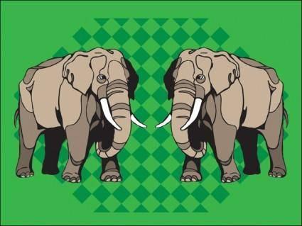 free vector Elefante