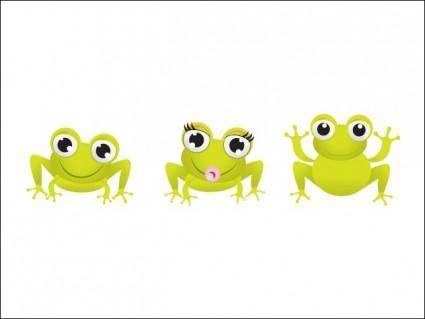 free vector Little Frogs