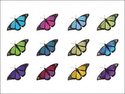 free vector Butterflies
