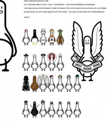 free vector Ducks