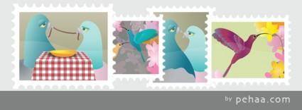 free vector Stamps Collection Vector
