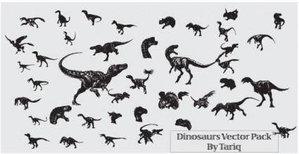 Animals dinosaurs free vector 2