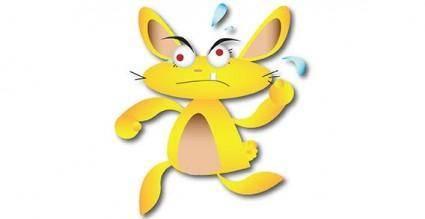 Animals cartoon mouse rat free vector