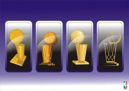 The nba championship logo vector