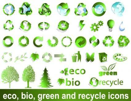 Vector logo recyclable