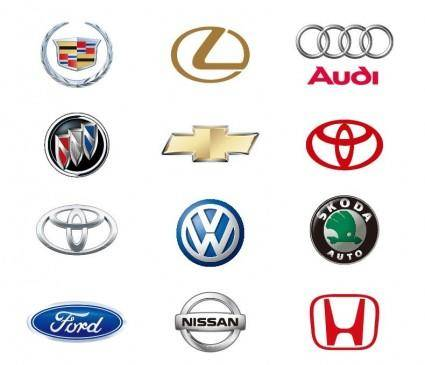 12 Automobile Logos Vector