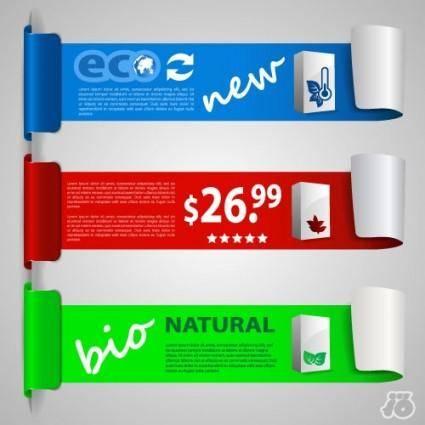 Ecolabel rolls 03 vector
