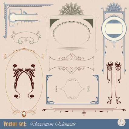 Europeanstyle lace tag 03 vector