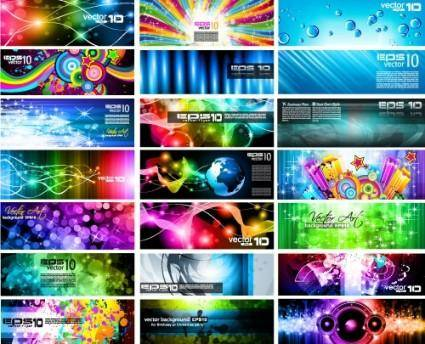 free vector Brilliant light effects dynamic business cards 02 vector