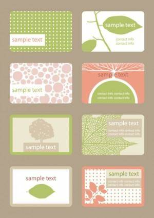 Leaf shading card 01 vector
