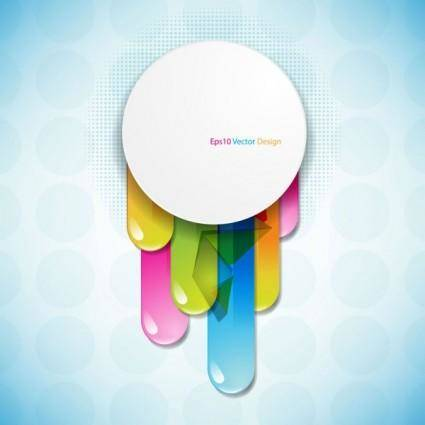 free vector Brilliant color circle 04 vector