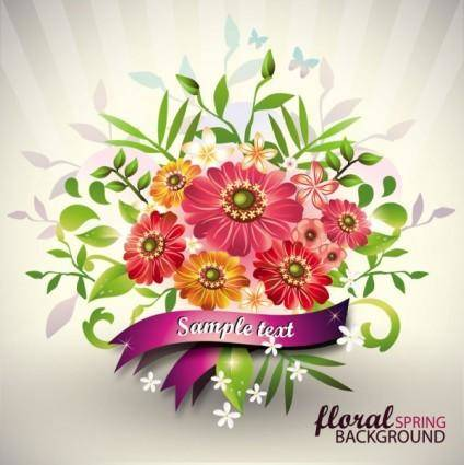 Beautiful bouquet 01 vector
