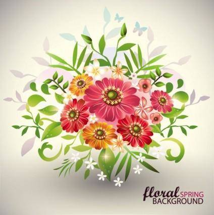 Beautiful bouquet 02 vector