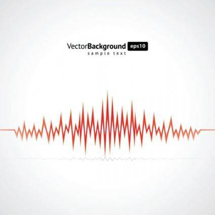 Dynamic audio waves 05 vector