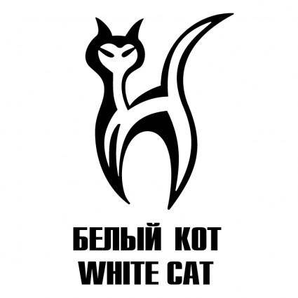 free vector White cat