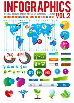 free vector Information graphics 02 vector