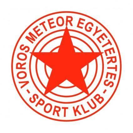 free vector Voros meteor egyetertes sport klub