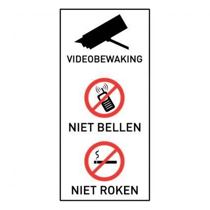 Videobewaking niet bellen niet roken