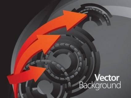 free vector Dynamic arrow 01 vector