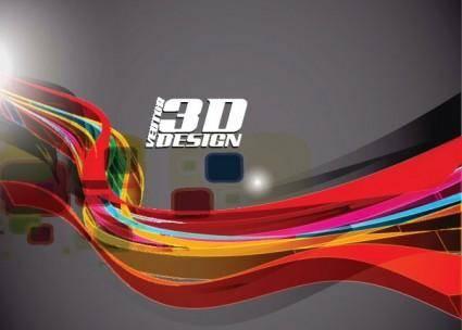 free vector Dynamic threedimensional elements 05 vector
