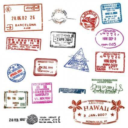 free vector Passport stamp seal 01 vector