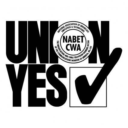 free vector Union yes nabet cwa