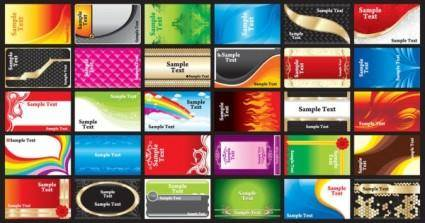 free vector Brilliant color business card templates 02 vector