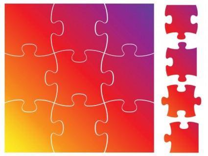 Brilliant puzzle 03 vector