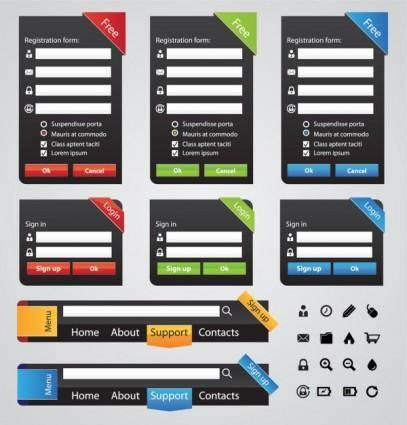 free vector Useful page elements 02 vector