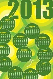 2013 calendars design elements vector
