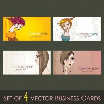 free vector Illustration card template 02 vector