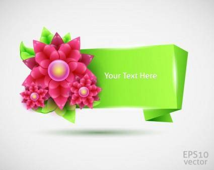 Threedimensional folding decorative graphics vector 2