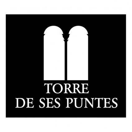 free vector Torre de ses puntes