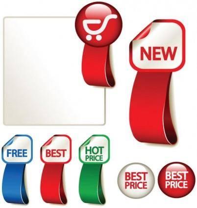 free vector Advertising label 02 vector