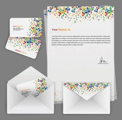 free vector Colorful business template 02 vector